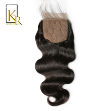 King Rosa Queen Silk Base Closure Brazilian Human Hair 4x4 Silk Closure Body Wave Free Part Bleached Knots With Baby Hair