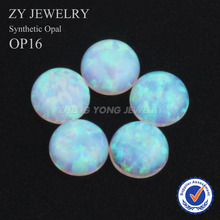 Hot Sale 2.0mm~10mm Round Cabochon Cut Synthetic OP16 Loose White Opal Stone