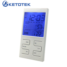 New Weather Station Indoor Thermometer Hygrometer Clock Date Weather Forecast Function with Blue Backlight(China)