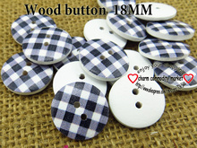 black stripes (60pcs/lot) wooden buttons for baby hat 18MM MCB-744-1(China)