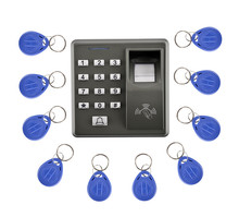 M10 Fingerprint 10 Pcs KeyCard+500 Users Fingerprint Access Control Standalone Single Door Controller Cheapest Standalone Keypad