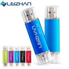 LEIZHAN OTG USB Flash Drive 64G 32G Smartphone USB Pendrive 16G 8G 4G Logo Customized Pen Drive Storage Memory Stick U Disk