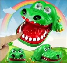 Big Size New in Box Crocodile Mouth Dentist Bite Finger Game Funny Play Kids Gift Educational Toy(China)