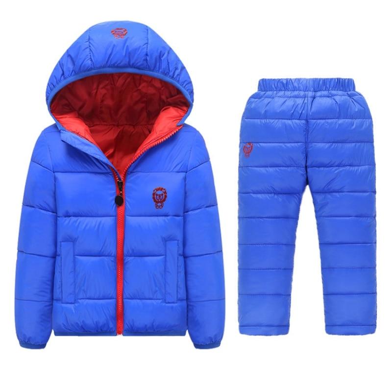 Winter Baby Girls Boys Clothes Sets Children Down Cotton-padded Coat+Vest+Pants Kids Infant Warm<br>