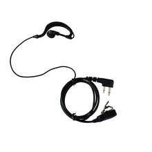 PTT MIC Radio Earpiece Headset for ICOM  IC-F11 IC-F11S IC-F31 MAXON SL25 VERTEX VX-200 COBRA HH37ST RITRON Radio black colour