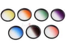 Camera Filter 49mm Gradient Full Red Orange Yellow Green Blue Purple ND2 4 8 16 for EF 50mm f/1.8 STMAlpha 28mm f/2.8 (SAL28F28)