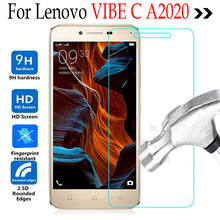 For Lenovo VIBE C A2020 Tempered Glass Phone Screen Protector For Lenovo Vibe C A2020a40 DS A 2020 Cover Protective Film Case
