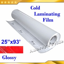 "NEW 25""X101'(0.635x28M) Glossy Clear UV Luster PVC Cold Laminating Film Protect Photo For Cold Laminator"