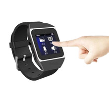 8GB Qinkar watch MP3 player black 1.5 inch capacitive touch screen FM/Pedo Meter/ebook/video sport bluetooth MP3 watch Player(China)