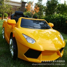 The new Lamborghini children's electric car four-wheel remote control toy car baby can take the swing swing stroller(China)