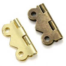 10pcs 20mm x17mm Bronze Gold Silver Mini Butterfly Door Hinges Cabinet Drawer Jewellery Box Hinge For Furniture Hardware