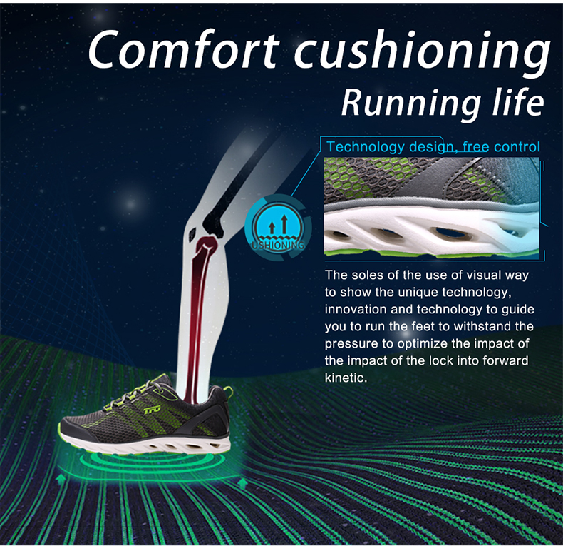TFO Outdoor Running Shoes For Man Summer Light Weight Mesh Breathable Sneakers Lovers Outdoor Sport Shoes Lace-Up 851708 6