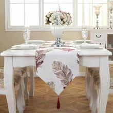 European Modern Minimalist Table Runner Tablecloth Embroidered Table Runners Table Flag Dinner Mats Home Textile #45(China)
