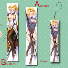 Hot Game Mercy Angela Ziegler Cool Anime Mini Dakimakura Keychain Badge Pillow Hanging Ornament Phone Strap Gift