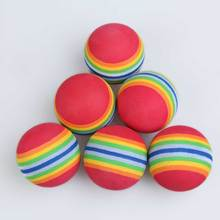 50pcs/Pack Rainbow Stripe FOAM Sponge Golf Balls Swing indoor Practice Training Aids Ball EVA Foam Golf Balls Light-weight