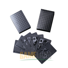 New Year - Black plastic 3D Print poker cards - PET environmental friendly Poker Cards-Advanced Plastic Playing Cards