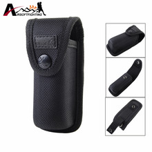 Tactical 13CM Flashlight Holster Molle Pouch Outdoor Hunting Hiking Portable Electronic Torch Holster Cover Case for Belt BK