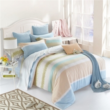 Stripe designer bedding set queen king double twin size soft tencel bedding modern duvet cover bed sheet pillow covers lyocell
