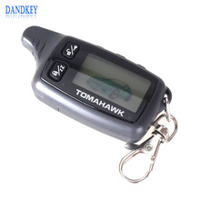 Dandkey Remote Control Keychain Two 2-Way Car Alarm System LCD Fob For Tomahawk  TW9030 Free Shipping