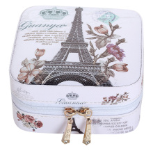 Creative Jewelry Box Mini PU Leather Casket For Jewelry Travel Case Best Birthday Gift Ring Earrings Necklace Storage(China)