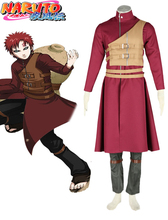 Free Shipping Naruto Shippuden Gaara Red Anime Cosplay Costume