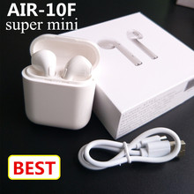New mini AIR-F10 Wireless Bluetooth earbuds double ear earphone headsets not Air pods For android Apple iPhone X/8/7/7s(China)