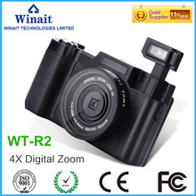 "Max 24MP DSLR Camera Digital 3.0"" LCD Screen EIS Compact Camera 32GB Memory 1080P DVR Professional Digital Video Camcorder WT-R2(China)"