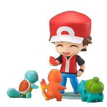 NEW hot 10CM 4pcs/set Ash Ketchum Pikachu action figure toys Christmas gift collectors with box(China)