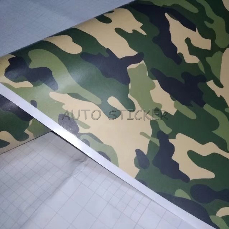 Army green black snow camo vinyl 4
