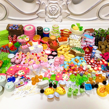 36PCS Mini Food Tableware Set Dollhouse Miniatures Meal Drink Megahouse Play Doll House Kitchen Toys for BJD Doll