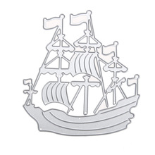 Metal Cutting Dies DIY Sailing Boat Ship Die Cut Stencils for Scrapbook Paper Cards Decorative Craft Scrapbooking Die Cuts
