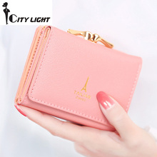 New arrival wallets Fashion women wallets multi-function High quality small wallet purse short design three fold freeshipping(China)