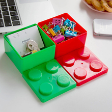 2016 Hot Sale Building Blocks can Superimposed on the Desktop Storage Boxes Women's Cosmetics Boxes Stationery Box