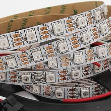 5M DC5V WS2812B Built-in WS2811 IC 60LED/M RGB Dream Color Individually Addressable Pixel LED Strip IP20 NonWaterproof White PCB(China)