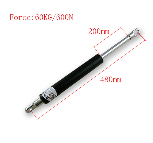 200mm Long Stroke 60KG/132lb Force Gas Springs for Funiture Lift M8 Auto Gas Springs for car 480mm Central Distance<br>