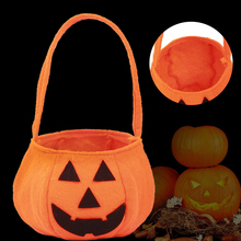 Halloween Supplies Kids' Pumpkin Candy Tote Bag Fabric Pail Props Decoration Festive & Party Supplies Gift Bag #250789