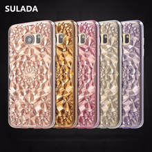 Luxury crystal diamond Sun Shine pattern TPU Silicon Soft Back Cover Case For Samsung Galaxy S7 S7 edge S8/Plus Phone cases(China)