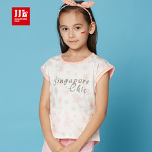 girls t shirt short sleeve summer kids t-shirts designed casual children cartoon clothes china size 6-15 years