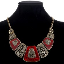 MINHIN Delicate Statement Necklaces & Pendants Vintage Gold/Silver Geometric Choker Necklace For Women Retro Party Jewelry(China)