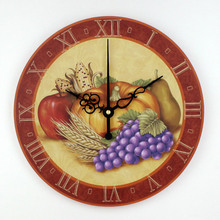 kitchen wall clock waterproof clock face kitchen watch Pastoral style home decoration silent 3d wall clock orologi da parete
