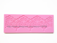 NEW! Free Shipping Fondant Cake Instant Lace Silicone Mold Sugar Paste Sugar Art Tools Cake Decoration LM-09