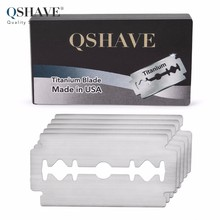 Qshave Double Edge Safety Razor Blade Straight Razor Titanium Blade Classic Safety Razor Blade Made in USA, 10 Blades(China)