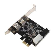 GTFS Hot Super Speed 2-Port USB 3.0 PCI-E PCI Express 19-pin USB3.0 15-pin SATA Connector Low Profile