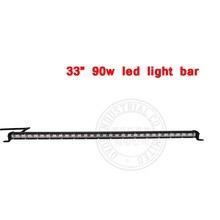 "1pcs super slim 33"" 90w hot selling 10-30v single row led water proof light bar for car truck 4x4 atv suv"