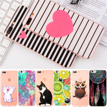 GerTong Painting Soft TPU Case For iPhone X 8 7 6 6S Plus 5 5S SE 4 4S Animal Flower Heart Slim Silicon Housing Back Cover Shell