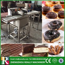 Small mini food chocolate coating processing machine for donut