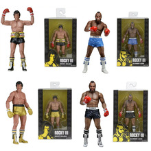 "NECA Action Figure Rocky III ROCKY BALBOA CLUBBER LANG Boxing Joint Moveable PVC Doll Collectible Model Toy 7"" 18cm"