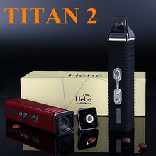 Electronic Cigarette Wax Dry Herb Vaporizer Titan 2 Hebe Box Mod  Kits E Cigarette Twist Herbal Vaporizer Herb Vape X8249