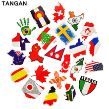 TANGAN 27 pcs Flag Stickers on Motorcycle Suitcase Home Decor Laptop Covers DIY Decal  In the Car Stickers styling bicycle