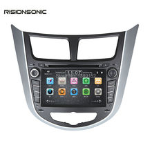 "2Din 7""  Car DVD Player for Hyundai Solaris accent Verna I25 with GPS Bluetooth  iPod 3G Wifi Radio Russian Language Free map"